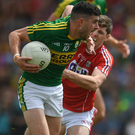Kerry's Michael Geaney in action against Cork's Kevin Crowley