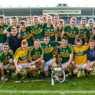 The victorious Kerry Under 21 Hurling team in Semple Stadium on Saturday afternoon