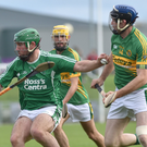 Ballyduff's Mikey Boyle in action against Lixnaw's Michael Conway during Sunday's county senior hurling final in Austin Stack Park