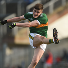 Seán O'Shea in action against Donegal in Fitzgerald Stadium on Sunday afternoon. Photo by Diarmuid Greene/Sportsfile