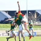 Kerry's Brandon Barrett Kerry in action against Diarmuid Byrne during their NHL Division 2A clash in Austin Stack Park on Sunday