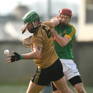Mikey Boyle of Kerry in action against Adam Gannon of Meath. Photo by Diarmuid Greene / Sportsfile