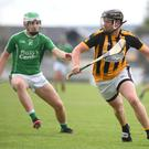 Brian O'Leary, Abbeydorney and Jack O'Sullivan, Ballyduff in action on Saturday evening. Photo by Domnick Walsh / Eye Focus