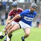Causeway's Gavin Dooley in action against St Brendans' Stephen Leen during last Sunday's Garvey's County SHC Round 1 clash in Austin Stack Park, Tralee. Photo by Domnick Walsh/Eye Focus