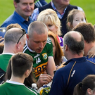 Kieran Donaghy signs autographs for fans after Saturday's All-Ireland SCF Quarter-final Group 1 Phase 3 match against Kildare at Fitzgerald Stadium in Killarney. Photo: Sportsfile