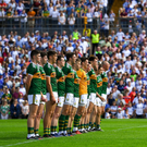 The Kerry team prior to the All-Ireland Senior Football Championship Quarter-Final Group 1 Phase 2 match between Monaghan and Kerry. Photo by Brendan Moran/Sportsfile