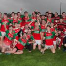 Crotta O'Neills celebrate after winning the County Under 21 Hurling Championship final