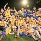 Beaufort players and supporters celebrate the club's Munster JFC title win. Photo by Eric Barry