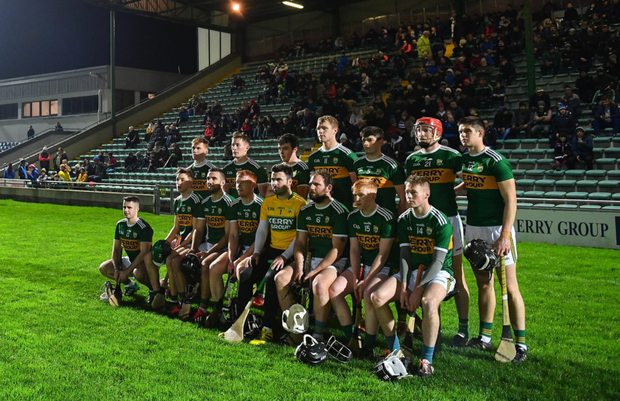 The Kerry team pose for a team photo prior to the Co-Op Superstores Munster Hurling League 2019 match between Kerry and Limerick at Austin Stack Park in Tralee. Photo by Sportsfile