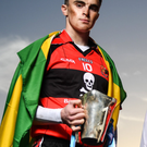 Sean O'Shea of UCC and Kerry, left, at the launch of the Sigerson Cup in Dublin