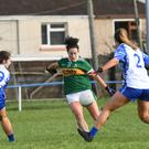 Miriam O'Keeffe, Kerry and Emma Gildea, Waterford in action during the game Photo by Domnick Walsh / Eye Focus