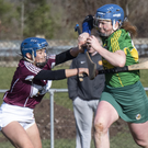 Kerry's Laura Collins in action against Westmeath's Sinead McKenna during their National Camogie League Division 2 clash at John Mitchels' GAA Grounds in Ballyseedy. Photo by Domnick Walsh/Eye Focus