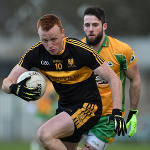 Johnny Buckley of Dr. Crokes in action against Conor Cunningham of Corofin during their 2017 All-Ireland semi-final at the Gaelic Grounds in Limerick. Photo by Sportsfile