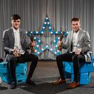 Sean O'Shea, left, and Shane Conway, both of Kerry and UCC, who were named Electric Ireland HE GAA Rising Star Footballer and Hurler of the Year 2019 respectively.