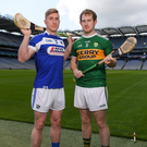 Laois' Ross King and Kerry's Pádraig Boyle will do battle in the Joe McDonagh Cup (Round 3) in Austin Stack Park on Saturday afternoon. Photo by Eóin Noonan/Sportsfile