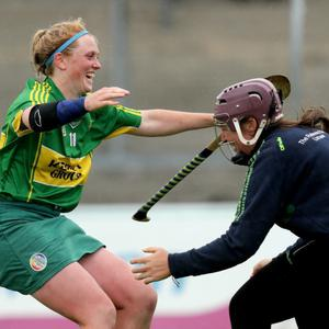 Action from the Junior Camogie semi-final