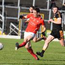 Paudie Clifford, East Kerry scoring a great goal against Austin Stacks in the Garvey's SuperValu Kerry Senior County Championship Round 2B at Fitzgerald Stadium, Killarney on Sunday. Photo by Michelle Cooper Galvin