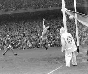 Substitute Seamus Darby scores their last minute goal past Kerry goalkeeper Charlie Nelligan in the 1982 All-Ireland SFC Final, which denied Kerry five All-Ireland SFC titles in a row. Photo by Colman Doyle