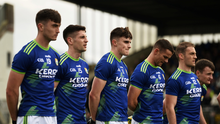 23 February 2020; Kerry players stand together for the playing of the national anthem prior to the Allianz Football League Division 1 Round 4 match between Kerry and Meath at Fitzgerald Stadium in Killarney, Kerry. Photo by Diarmuid Greene/Sportsfile