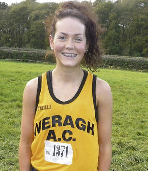 Grace Lynch, Iveragh AC, Kerry's leading finisher at the Munster Novice Cross-country Championships in Limerick