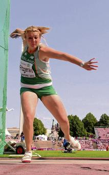 Team Ireland's Claire Fitzgerald competing in the Women's Discus. European Athletics U23 Championships, Tampere, Finland. Picture credit: Paul Mohan / SPORTSFILE