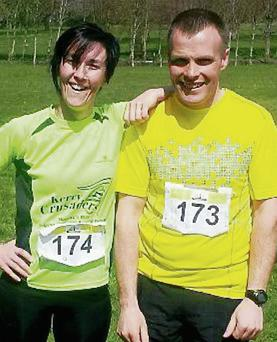 Tena Griffin and David Twomey after completing the Bog2Beach Adventure Challenge in Listowel last year.