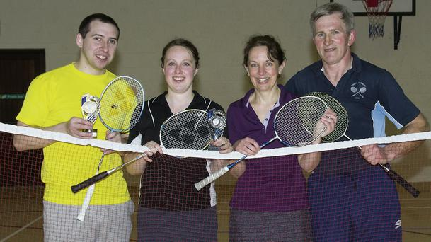 Players at the Annascaul Badminton Club Tournment