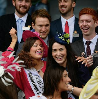 The Rose of Tralee international Roses at Ballybeggan race course, Tralee.