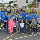 Members of Kingdom Cycling Club before heading out on a training ride last Sunday in preparation for the Tour of Kerry