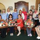 Mary Doherty (seated centre) presenting first prize in the AIB Ladies Hamper competition to winner Bernie Galvin with (left) Louise Langan, Margaret Campion, Patsy Hanley Lady Captain (back from left) prizewinners Betty Farrell, Angela Kelliher, Geraldine Collins, Maureen Creedon, Breda Duggan, Lora Beth Molloy, Bride Doyle and Mary O'Connor at Killarney Golf and Fishing Club, Killarney on Sunday