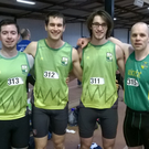 An Riocht senior men's relay team, from left, Dylan Roche, PJ Galvin, William O'Connor and Anthony Greaney