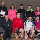 The Kerry Grade D team that won the Inter-County Grade D badminton competition in UL Limerick last Sunday. Front, L/R: Michael Crossan, James Flaherty, Fergal Hannon, James Leane and Jonathan Keane. Back, L/R: Eric Nelligan, Manager, Sinead Galvin, Maeve Twomey, Elaine Hudson, Saoirse Fitzgerald and Niamh Flaherty.