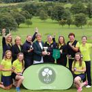 The Killarney Senior Cup team that won the All-Ireland Ladies Senior Cup title at Royal Curragh Golf Club, Co. Kildare. Photo by Jenny Matthews (cashmanphotography.ie)