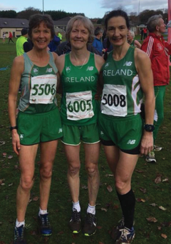 Kerry athletes in Derry,from left, Niamh O'Sullivan, Sharon Cahill and Majella Driskin