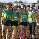 The An Riocht Health and Leisure Over-50 ladies team that won club gold and silver county medals in the National Masters Cross-country championships on Sunday. From left are Niamh O'Sullivan, Liz Heaslip, Sharon Cahill and Majella Diskin