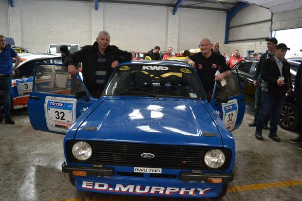 Local crew of Ed Murphy & Diarmuid Lynch who competed in the Circuit Of Kerry Rally in their Ford Escort MK 2. They finished 16th over all & 7th in class. Photo by Raymond Corkery
