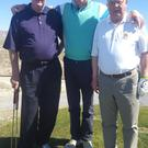 The late Paudie O'Connor (left) with his brother Seamie and lifelong friend John Keogh (right) on a Las Vegas golf course last year