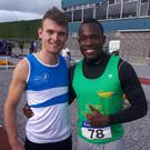 Friends and competitors Marcus Lawler and Travane Morrison from the National League final.