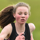 Niamh O'Mahony, from Presentation Tralee, Co Kerry, on her way to winning the Intermediate Girls 3000m during the Irish Life Health Munster Schools Cross Country event at WIT Sports Campus in Carrignore, Waterford. Photo by Matt Browne/Sportsfile