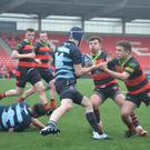 Action from the Martin O'Sullivan Cup Final, won by Killarney over their neighbours Killorglin, in Irish Independent Park last Saturday afternoon.