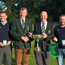 The winning team from Kenmare from left to right, Chris Dale, David O' Lady Captain Dwyer (Federation Captain), Paudie Kelleher (Kenmare Captain) and James Murphy
