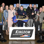 Mary Kennedy presents the winner's perpetual trophy to Billy Doyle, and Kieran Kennedy presents the memorial trophy to winning owner Liam Doyle after Knockane Brady won the Steve Kennedy Memorial Stakes final at the Kingdom Greyhound Stadium on Saturday. Included,from left, are Kieran Coffey, Declan Dowling (KGS manager), Aoibhinn Coffey, Neil Blennerhassett, Jackie Coffey, Paul Kennedy, Micky Kennedy, Paula Kennedy, Sarah Coffey and Kieran Casey (KGS Racing Manager). Photo by www.deniswalshphotography. com