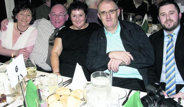 At the Castleisland Soccer Club Social at the River Island Hotel on Saturday night were: Breda and James O'Sullivan, Mary, Des and Stephen McCarthy. Photo by John Reidy