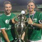 NYC Ireland won the New York Cosmos Copa title on Sunday with a 3-2 win over NYC Colombia. Tralee natives John Dineen and Sean Kelly were members of the winning team