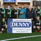 The Fenit Samphires team after winning the Munster Youths Cup Kerry Area Final against Listowel Celtic in Mounthawk Park last Saturday. Photo by Domnick Walsh