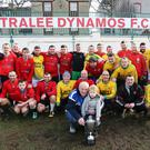 Tralee Soccer teams take part in the Daniel Coffey Memorial Match in the Dynamos pitch (Low field) on St.Stephen's day in front Daniel's father Patrick Coffey, with his grand son Kyle Flaherty, on left his mother Kyle Flaherty, the match was organized by Tim Landers and Joe Sheridan