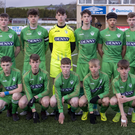 The Kerry team that played and lost to Sligo Rovers in the SSE Airtricity U-17 Shield Final at Mounthawk Park last Sunday. Photo by Domnick Walsh
