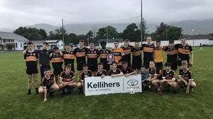 Austin Stacks football team who won the Div. 1 final of the Kelliher's Toyota, Tralee Central Region under 15's football competition.