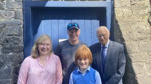 Daniel Bothwell with his aunt Elizabeth, Dad Alan and grandfather Joe Bothwell at Carlingford Heritage Centre