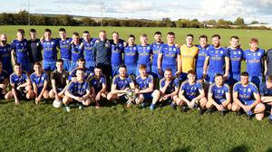 Wolfe Tones with the Division 3BFL trophy. Photo: Colin Bell Photography